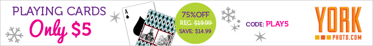 Personalized Playing Cards - Just $5 - Save $14.99!