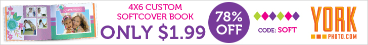 4X6 Custom Softcover Photo Book – Only $1.99 – Save $7!