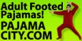 adult footed pajamas from pajamacity.com