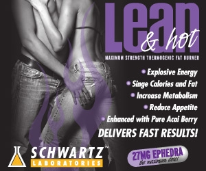 Lean and Hot Thermogenic with Ephedra by Schwartz Labs