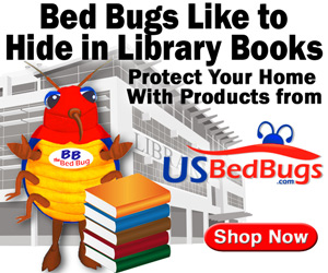 Bed Bugs Like to Hide in Library Books - See USBedBugs.com for Prevention Products