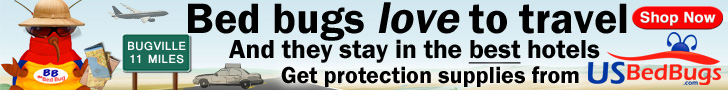 Bed bugs love to travel. Protect yourself with products from USBedBugs.com