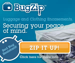 BugZip Luggage and Clothing Encasements affiliate banner
