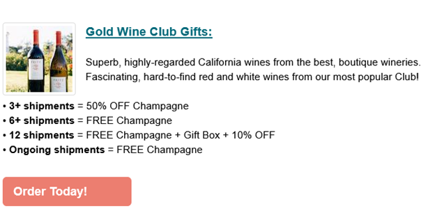 Mother's Day Wine Club Specials -Give Mom A Gift She'll Love To Open! Give Mom 3+ Shipments Of ANY Of Our 6 Wine Clubs And Get 50% OFF Champagne, Or FREE Champagne Included In Her First Shipment! Hurry These Specials Are Only Good Through 5/9/21! Shop Now