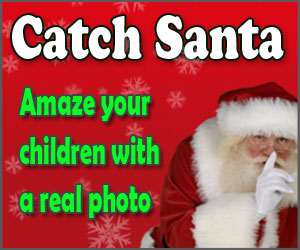 Show the kids Santa Claus was in your house with a picture, the kids will be amazed