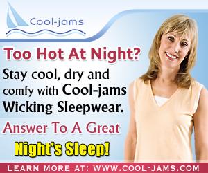 Cool-jams Wicking Sleepwear Helps Night Sweats