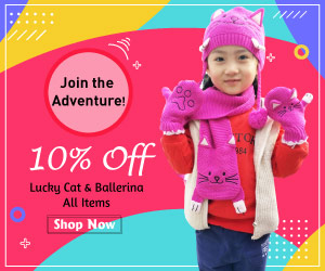 Get 10% Off All Kidorable Lucky Cat & Ballerina Items.