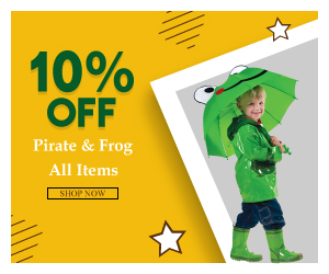 Get 10% Off All Pirate & Frog Items