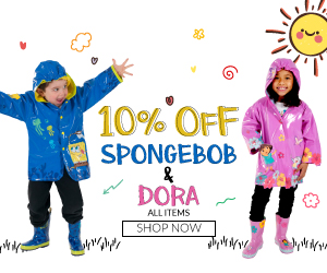 Get 10% off all Kidorable SpongeBob & Dora items