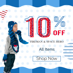 Get 10% Off All Kidorable Fireman & Space Hero items