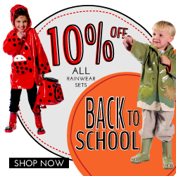 Get 10% Off all Kidorable Rainwear sets