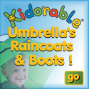 Kidorable Raincoats, Umbrellas, and Rain Boots