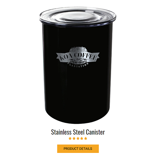 Stainless Coffee Canister