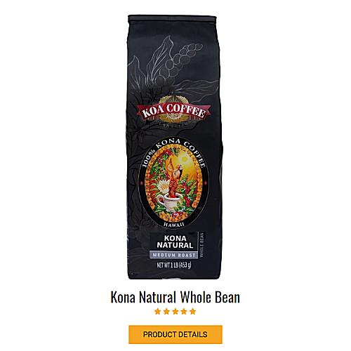 Kona Natural 100% Kona Coffee Naturally Processed