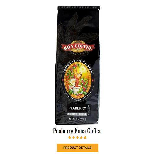 Peaberry Kona Coffee