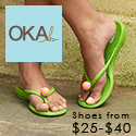 OKA b. slides and thongs are cute, comfortable and affordable!