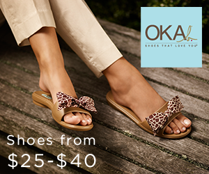 OKA b. Slides are fashionable, comfortable and affordable!