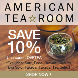 10% Off all orders at AmericanTeaRoom.com, code LOVETEA