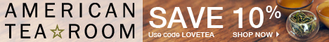 20% Off over $150 on loose tea & Free Shipping, code GIVETEA
