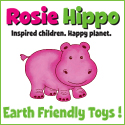 Rosie Hippo Wooden Toys Earth Friendly, Unique, Natural, Handmade, Non Toxic Toys