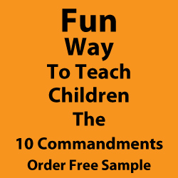 Fun way to teach children the 10 Commandments