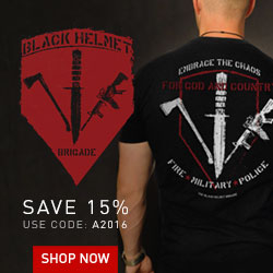 Black Helmet Firefighter Tees