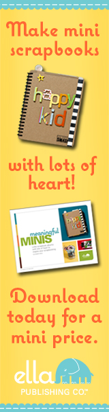 Make mini scrapbooks with lots of heart! Download today for a mini price from Ella Publishing.