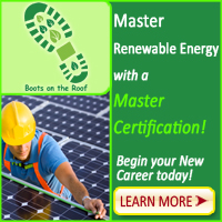 Boots on the Roof's Master Certificate in Renewable Energy