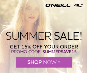 15% Off with SUMMERSAVE15 - O'Neill