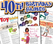 40th Birthday Party Games Pack