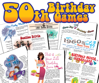 graphic regarding Free Printable Women's Party Games identified as 50th Birthday Social gathering Video games