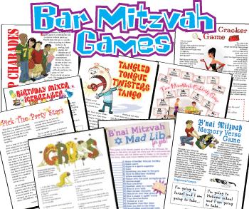 Printable Bar Mitzvah Games Pack