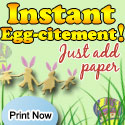 Printable Easter games. Instant eggs-citement! Just add paper