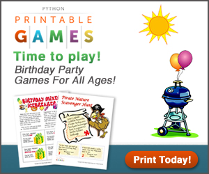 Printable games. Instant fun! Just add paper