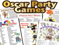 Printable Oscar Party Games Pack