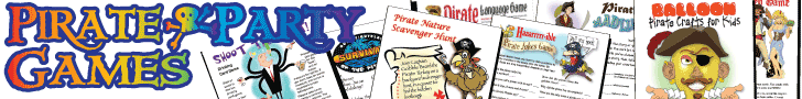 Printable Pirate Games for Adults and Kids