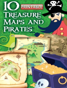 Printable Treasure Map Template Pirate Craft For Kids