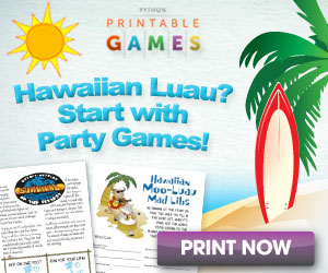 picture relating to Printable Luau Party Games called Luau Bash Options