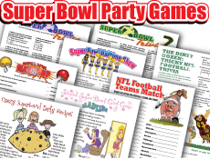 Super Bowl Party Games Pack: 17 great printables!