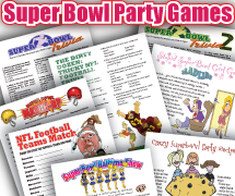 Super Bowl Home Party Games Pack: 17 great printables!