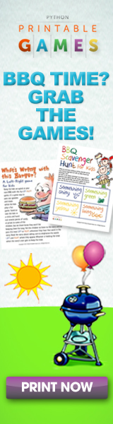Printable BBQ and Picnic games.
