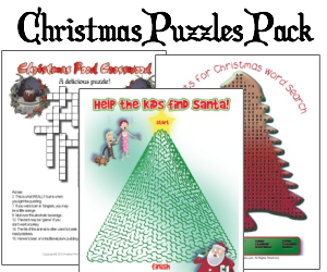 Printable Christmas Puzzles Pack of 12