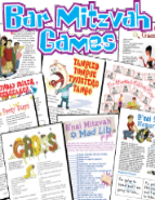 Fun Bat and Bar Mitzvah Games Pack Printable