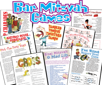 Bar Mitzvah Games Pack