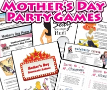 Mother's Day Party Games Pack