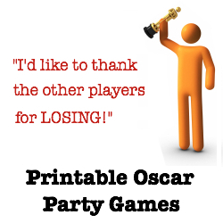 Oscar Night party games. Great Academy Award trivia! Get yours now