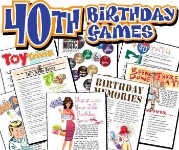 Printable 40th Birthday Games Bargain Pack