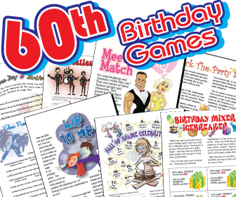 60th Birthday Party Games Pack 230x175