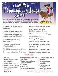 Terrible Thanksgiving Jokes Game
