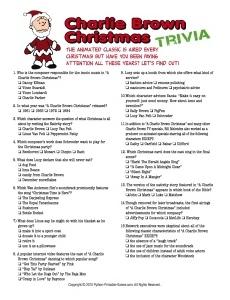 A Charlie Brown Christmas Trivia game
